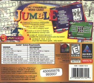 Jumble PC CD Spell Out Scramble Circle Word Puzzle Game