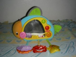Fisher Price Musical Fish Crib Toy with Mirror Sounds