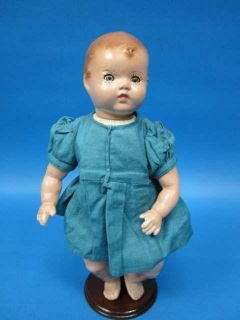 Antique Composition Doll 1945 Sleep Eyes Working Crier 13 Tall
