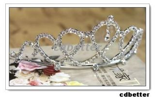 NEW Bling Bling Bridal Wedding Crystal Rhinestone Crown Tiara Headband