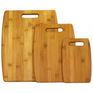 Bamboo Cutting Board Gift Set of 3 Sizes Wooden Chopping Block Boards