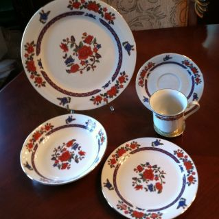 Crown Ming Fine China The Regent Collection Old Imari Gold 5 Pc /1