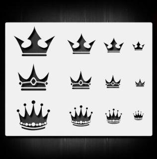 Crowns 1 Airbrush Stencil Template Airsick