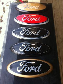 11 Ford Trucks ALL 9 Grille Emblem CUSTOM COVER BLACK put over your 9