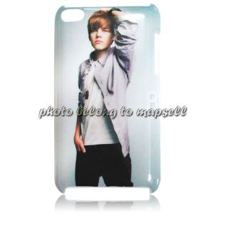 One Direction Justin Bieber Case for iPod Touch 4 Protect Case