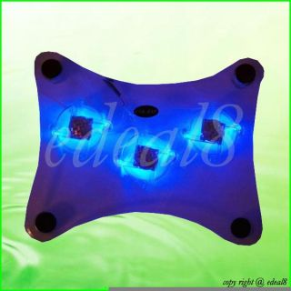 USB 3 Fans LED Notebook Laptop Cool Cooling Cooler Pad