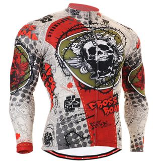 Mens Fxiger Top Cycling Jersey Bike Skull Clothing Tights Bicycle s
