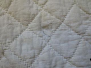Early Primitive Country Antique Blue Homespun Cotton Quilt Cutter