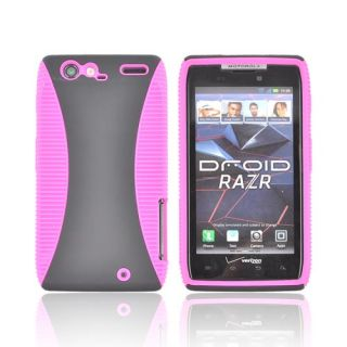 Hot Pink Black Hard Back TPU Crystal Silicone Case Cover for Motorola