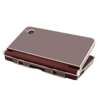crystal plastic hard clip on case protector for nintendo dsi ll xl for