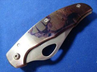Dakota 7645 Deer Print Folding Knife
