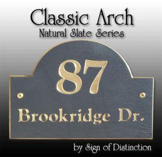 Personalized Natural Slate Address Plaque Marker Sign