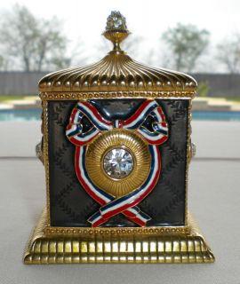 Ltd Wendy Reed Miniature Swarovski Crystal Trinket Box