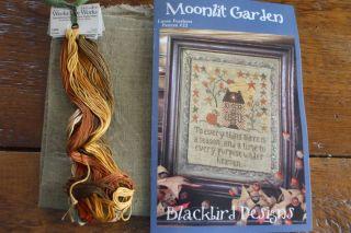 Blackbird Designs Counted Cross Stitch Moonlit Garden Kit with Floss