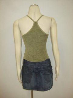 Cynthia Vincent Vince $80  Terry Cloth Green Tank Top Sz XS