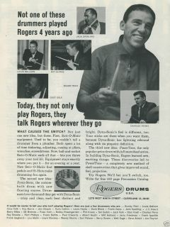 Drums Buddy Rich Louis Bellson Cozy Cole Roy Burns Sperling Perry Ad