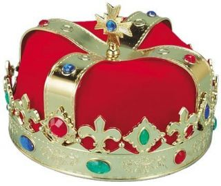 Adult Red Crown King Hat Halloween Costume Accessory