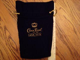 NICE Crown Royal CASK 16 Bag black velvet felt quilts hunting