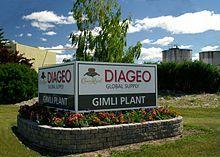 Diageo global Crown Royal supply plant, Gimli, Manitoba, Canada