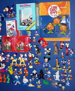 Donald Duck Dagobert Micky Maus etc Walt Disney CA 100 Teile Figuren