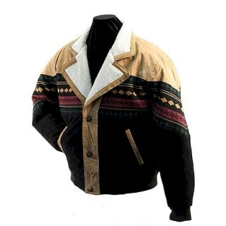 Southwestern Suede Leather Jacket Dakota Leather Company SIZE SMALL
