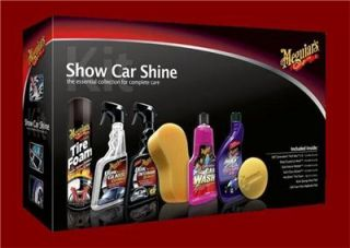 Meguiars 7 PC Show Car Shine Kit Car Care Wash Wax Detail