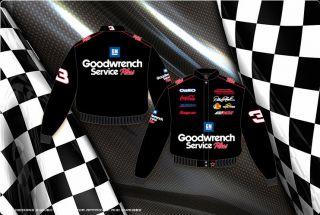 2012 Dale Earnhardt SR NASCAR Twill Jacket GM Goodwrench Mens Adult