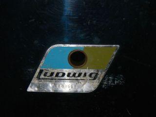 Piece Olive Badge Ludwig Vistalite Drum Kit