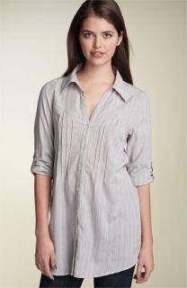 Frenchi® Roll Sleeve Button Down Shirt (Juniors)