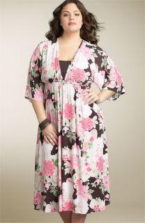 Retro Rags Kimono Sleeve Dress (Plus)