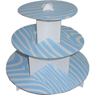 12 Cupcake Stand 3 Tier Cupcaketree Zebra Party Favor Wedding Baby