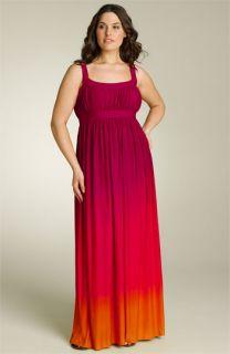 AK Anne Klein Dip Dye Maxi Dress (Plus)
