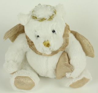 Dan Dee Plush White Gold Singing All Faithful Angel Teddy Bear Stuffed