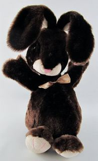 12 Dan Dee Brown Plush Bunny Rabbit Stuffed Toy Animal Head Bobs