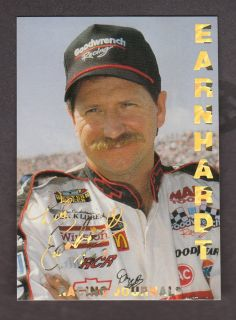 Dale Earnhardt Racing Journal 6 Time Champion Card Gold Lettering