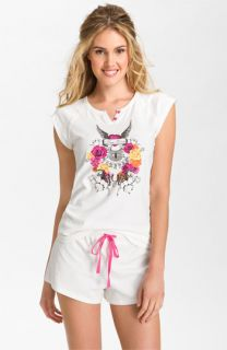 Betsey Johnson Stretch Cotton Short Pajamas