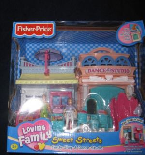 Fisher Price Sweet Streets Dance Studio Candy Shop New