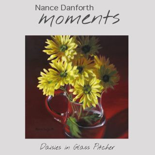 Danforth Daisies in Pitcher 6x6 Original Still Life Oil Painting