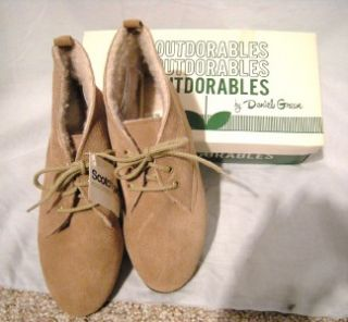 Lt. Brown Suede Ankle Boot w/Sherpa Lining, Daniel Green, 8WW, NOS