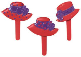 Red Hat Ladies Cupcake Picks Cake Decorations Toppers