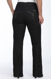 Calvin Klein Rhinestone Logo Bootcut Jeans (Plus)