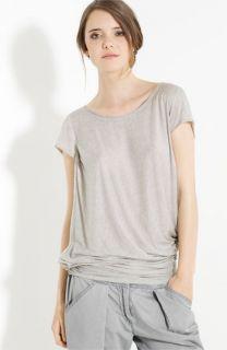 Donna Karan Collection Tissue Knit Twist Hem Tee