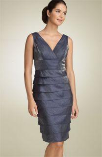 Adrianna Papell Crisscross Shutter Pleat Dress (Petite)