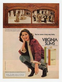 1977 Virginia Slims MA Hooper Rob Dalton City Bank Ad