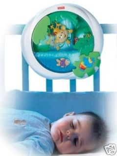 Rainforest Waterfall Peek A Boo Soother Music Lights Crib Toy