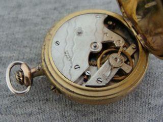 antiguo y fino reloj bolsillo swiss para dama savonette caja original