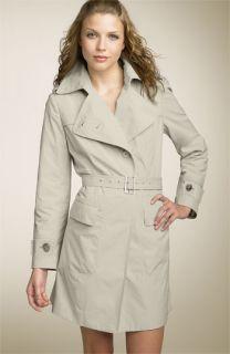 Calvin Klein Belted Cotton & Nylon Trench Coat