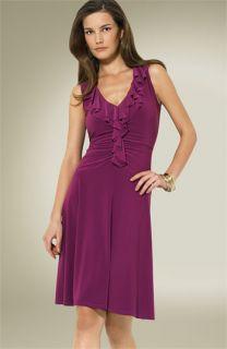Lauren by Ralph Lauren Ruffled Matte Jersey Dress
