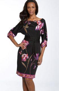 Elie Tahari Print Silk Jersey Shift Dress