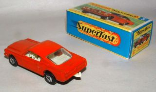 1969 Lesney Matchbox Superfast Ford Mustang Fastback Light Orange Mint